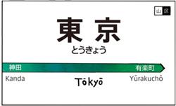 Табличка с названием станции в Токио